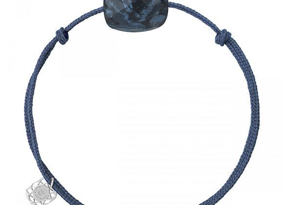 BRACELET CORDON BLEU JEAN COUSSIN PIETERSITE BLEUE