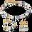 Thumbnail: Collier GeoCUBE® Cristaux Swarovski® & pierres précieuses multicolore romance