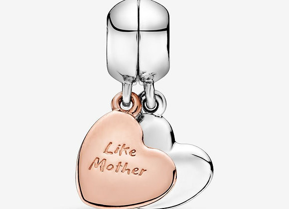 Charm Pendant Séparable Cœur Mère et Fille