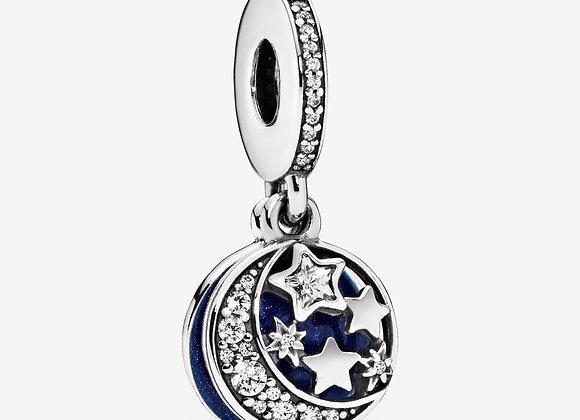 Charm pendentif lune et ciel bleu