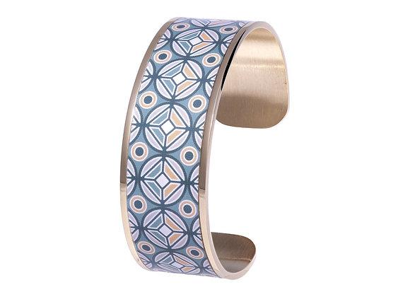 Bracelet bohème chic Mosaïque aquatique