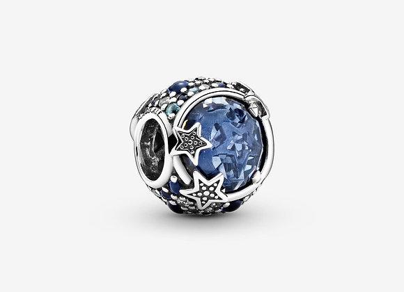 Charm Céleste Étoiles Bleues Scintillantes