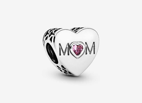 Charm Cœur de Maman Rose