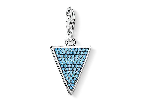 PENDENTIF CHARM TRIANGLE TURQUOISE
