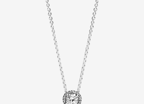 Collier Halo Scintillant Rond