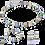Thumbnail: Boucles d'oreille GeoCUBE® multicolore gentle
