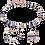 Thumbnail: Bracelet GeoCUBE® bleu-or rose