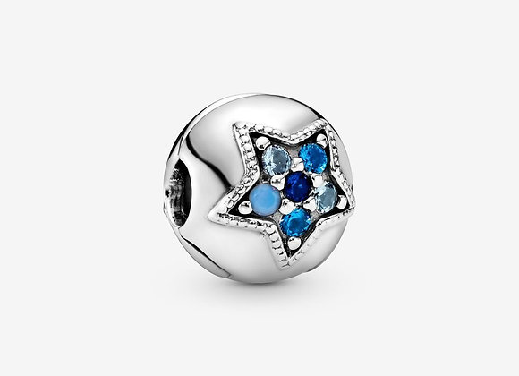 Charm Clip Étoile Bleue Brillante