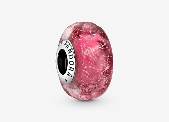 Charm Verre de Murano Rose Ondulé Fantaisie