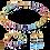 Thumbnail: Boucles d'oreille GeoCUBE® multicolore rainbow gold
