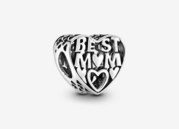 Charm Cœur Ajouré La Meilleure des Mamans