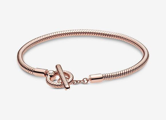 Bracelet Maille Serpent Fermoir en T Pandora Moments