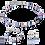 Thumbnail: Boucles d'oreille GeoCUBE® bleu-rose