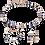 Thumbnail: Collier GeoCUBE® bleu-or rose