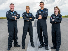 Inspiration4, The 1st All-Civilian Crew by SpaceX, is ready to set off into the orbit.