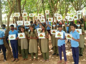 Bengaluru school students organize 'chipko'-protest against BBMP to prevent 40 trees from axing down