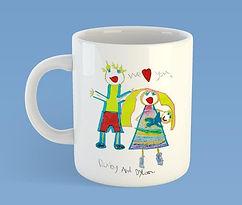 child artwork ceramic mug