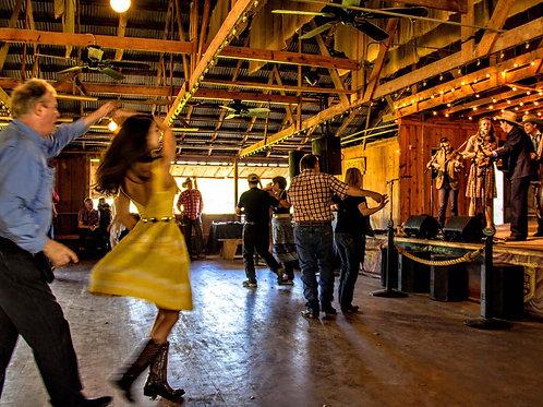 Yellow Dress Dancer at Luckenbach Dance Hall
