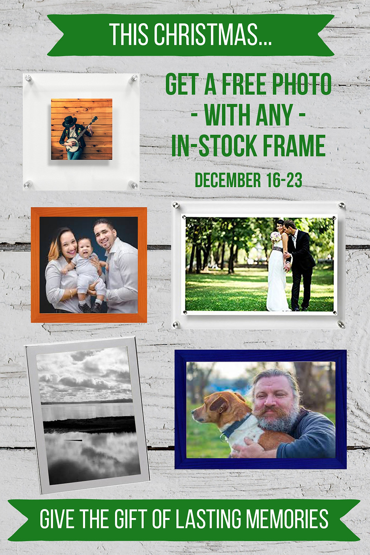 buy a frame, get a photo