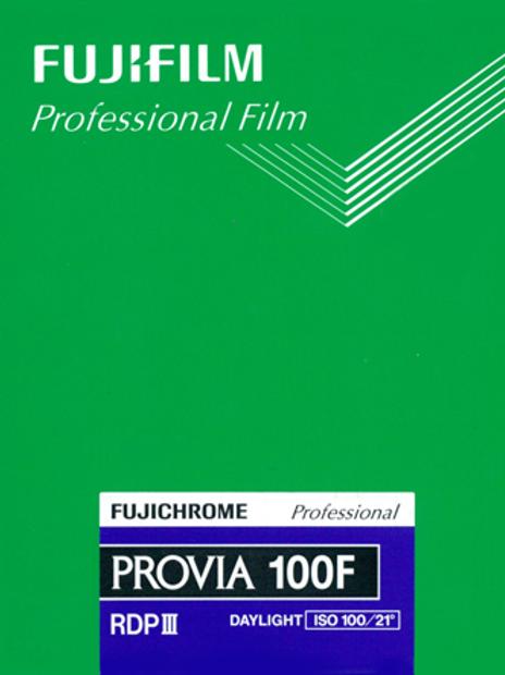 Fujifilm Fujichrome Provia 100F Professional RDP-III Color Transparency Film