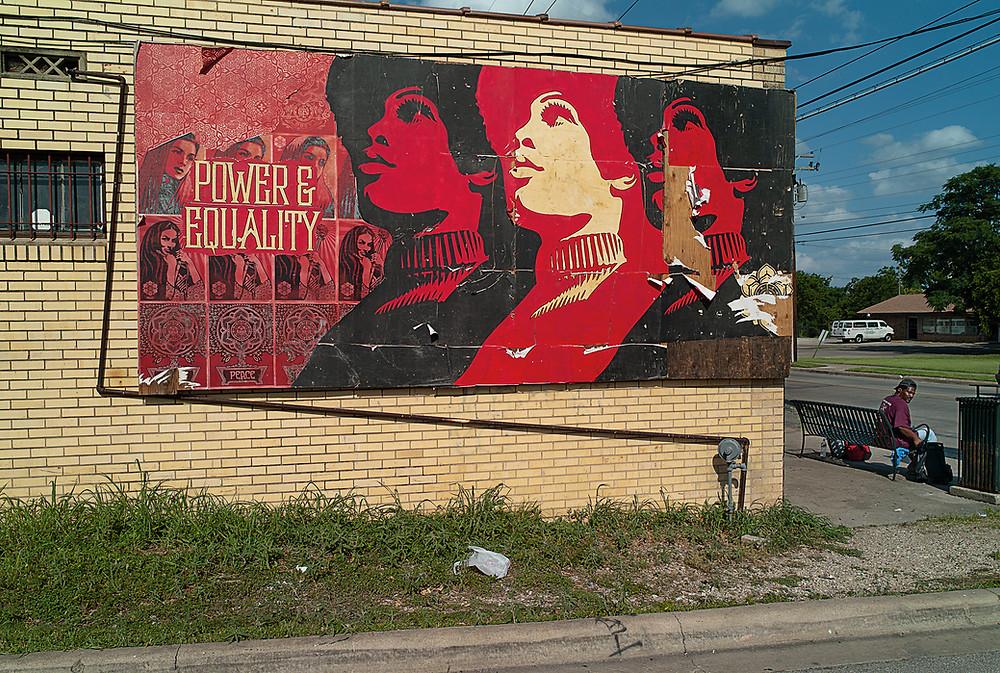 East Austin billboard wall