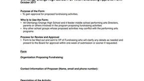 Fundraising Approval Form
