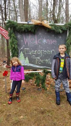 Evergreen Farm. So kid-friendly.