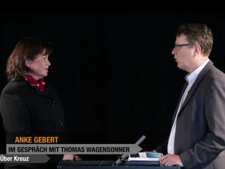 """Anke Gebert bei Erlesen.tv – """"Über Kreuz"""" Interview und Lesung"""