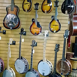 Guitars Oklahoma City Music Store Rawson Banjos Mandolins Ukuleles Fretted Musical Instruments OKC Peavey Dealer