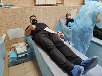 Колектив Муніципальної варти прийняв участь у заборі крові на День донора