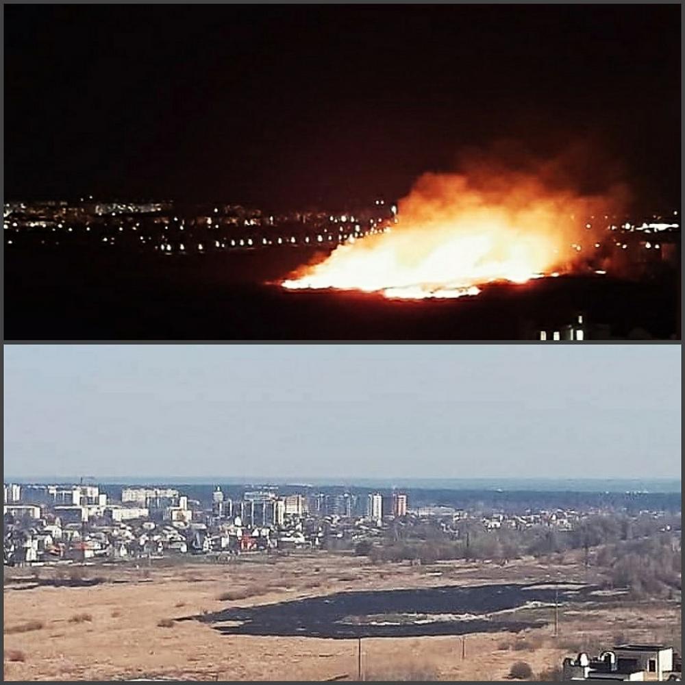 Наслідки пожежі 1 квітня в Ірпені