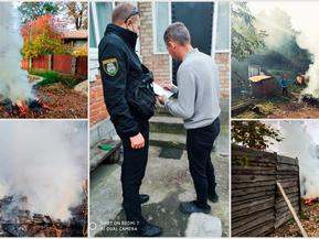 Муніципальна варта реагує на спалювання опалого листя в Ірпені