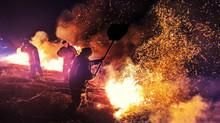 Муніципальна варта допомагала пожежно-рятувальним підрозділам гасити пожежу на заплаві