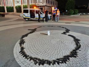 Вандали‐«романтики» намагалися влаштувати вогняний перформанс в центрі міста Ірпінь (ВІДЕО)