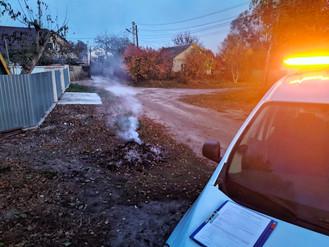 В Ірпені палять листя: Муніципальна варта реагує