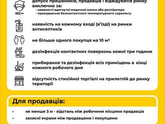 Робота агропродовольчих ринків Ірпінського регіону дозволена за певних умов
