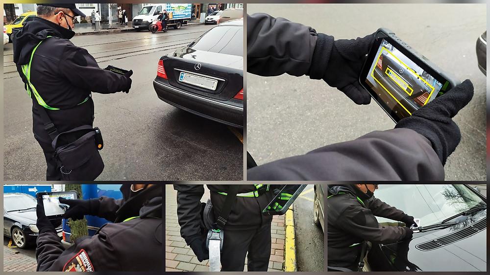 Процес притягнення порушника до відповідальності вінницьким інспектором з паркування
