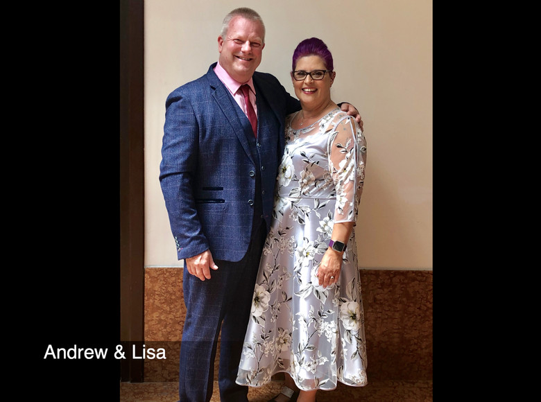 Andrew Nix with his lovely wife, Lisa