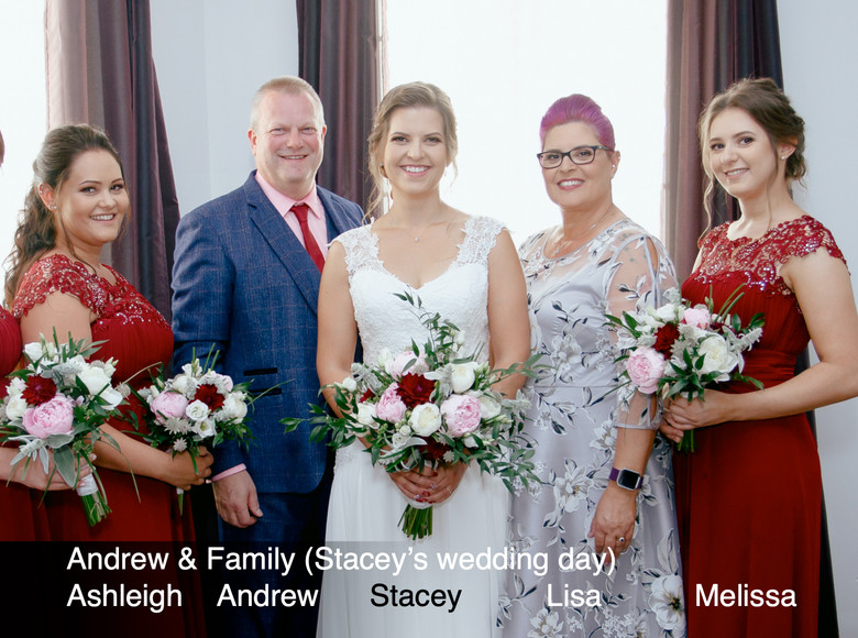 The Nix family on Stacey's wedding day