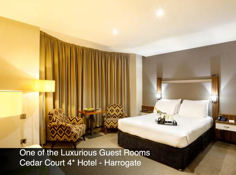 Guest room at The Cedar Court Hotel, Harrogate