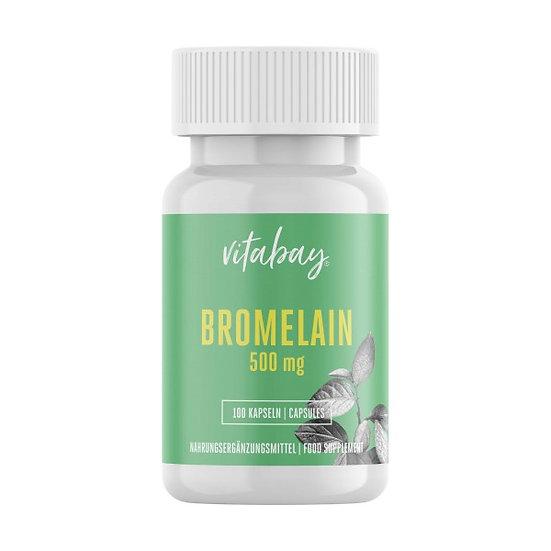 Bromelain 500 mg Hochdosiert - Reinsubstanz Vegan - frei von Hil.