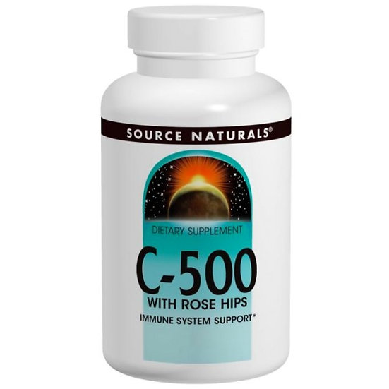 Vitamin C 500 mg mit Rose Hips - 100 Tabletten