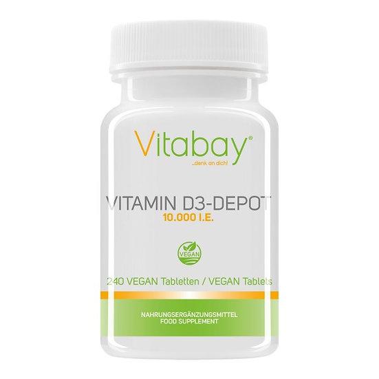 Vitamin D3 Depot 10.000 I.E. - 240 vegane Tabletten