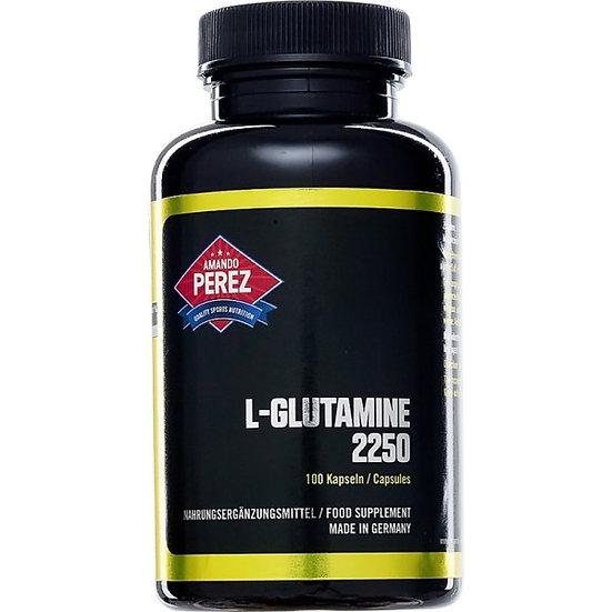 L-Glutamin Matrix Formel - 2250 mg pro Dosis - 100 Kapseln