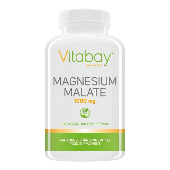 Magnesium Malate 1000 mg - 180 Vegane Tabletten