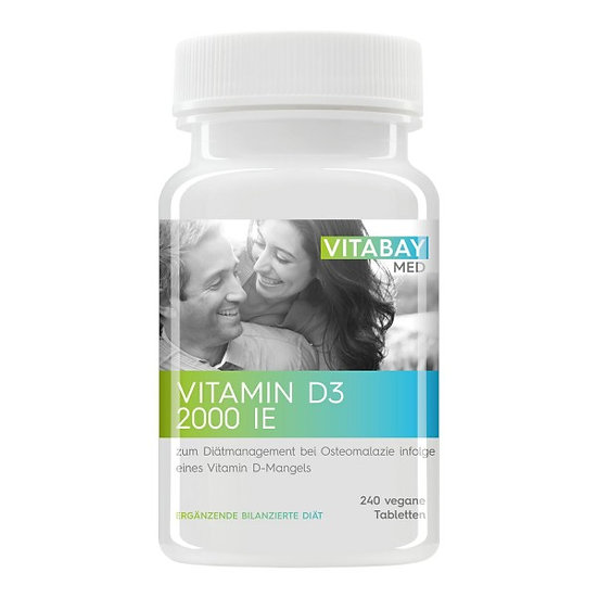 Vitamin D3 2000 IE - zum Diätmanagement bei Osteomalazie - 240 V.