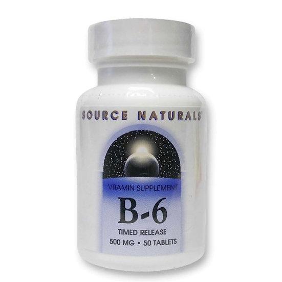 Vitamin B6 - 500 mg - zeitverzögerte Abgabe - 50 Vegane Tabletten