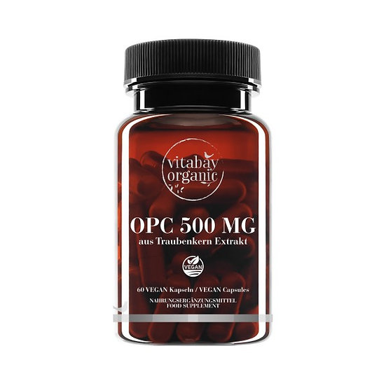 OPC 500 mg - hochdosiert Traubenkernextrakt - Vegane Kapseln 60 vegane Tabletten