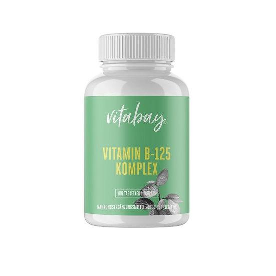 Vitamin B-125 - 100 Tabletten - Starker Vitamin B-Komplex