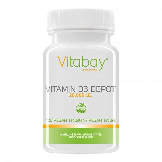 Vitamin D3 Depot 20.000 I.E. - vegane Tabletten 120 vegane Tabletten
